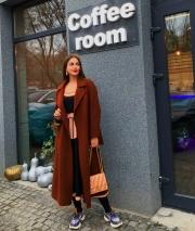 Пальто кашемир на запах Max Mara, цена 7500 грн