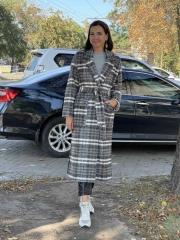 Пальто клетка шерсть, цена 5290 грн