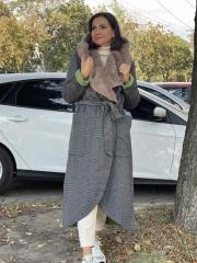Пальто с мехом, цена 9450 грн
