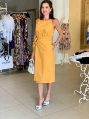 Платье Chloe, котон (золото, черное) цена 2 870 грн