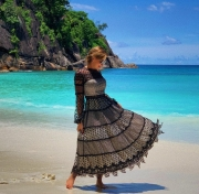 Платье пышное миди, цена 6400 грн