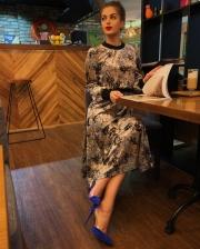 Платье велюр - 2800 грн